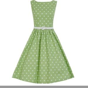Lindy bop polka dot dress size small